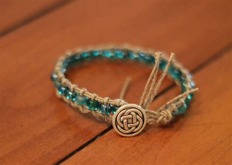 Celtic Knot Hemp Bracelet - items similar to celtic knot beaded hemp bracelet on etsy