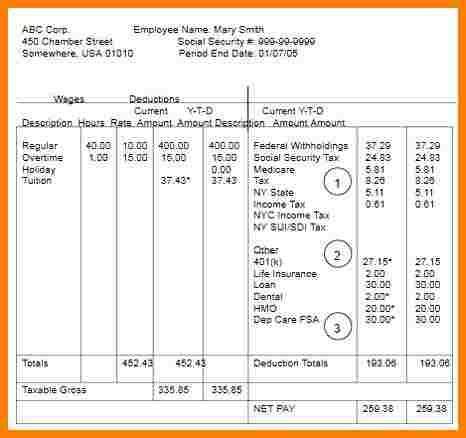6 Microsoft Office Pay Stub Templates Sles Of Paystubs Microsoft Office Pay Stub Template