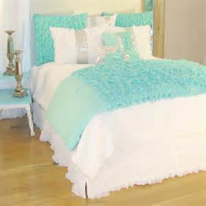 Duvet Cover Turquoise District17 Turquoise Chiffon Duvet Cover Duvet Covers