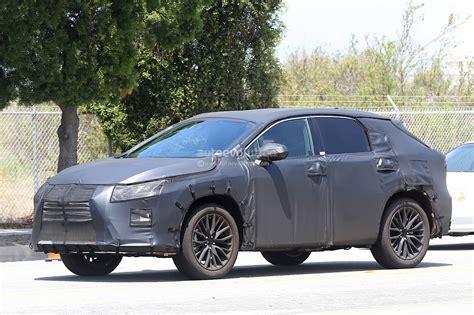 2016 lexus rx seven seater spied looks like lexus listen