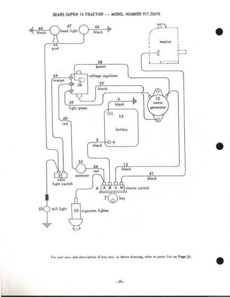 Wiring Diagram For Ss12 Sears Craftsman Tractor Forum