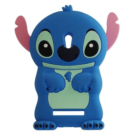 Stitch Zenfone 5 by Silicone Stitch 3d For Asus Zenfone 5 Black Blue