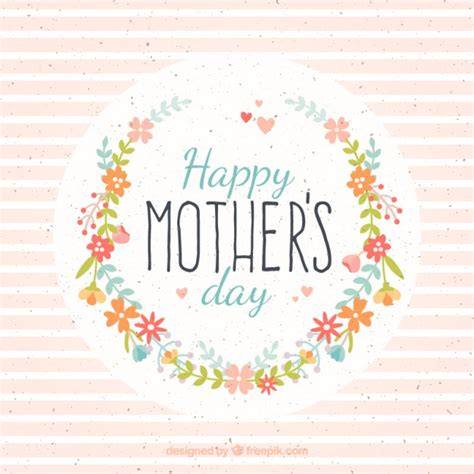 di giorno fiori carta di giorno della madre con fiori e strisce