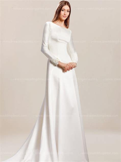 simple wedding dress  sleeves