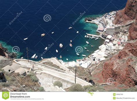 porto santorini porto su santorini immagine stock immagine di isola