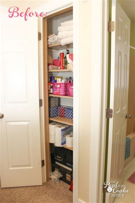 maximizing closet space linen closet organization maximizing small spaces the real thing with the coake family