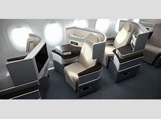 Sieht so der neue Lufthansa Business Class Sitz aus ... United Airlines 777 Interior