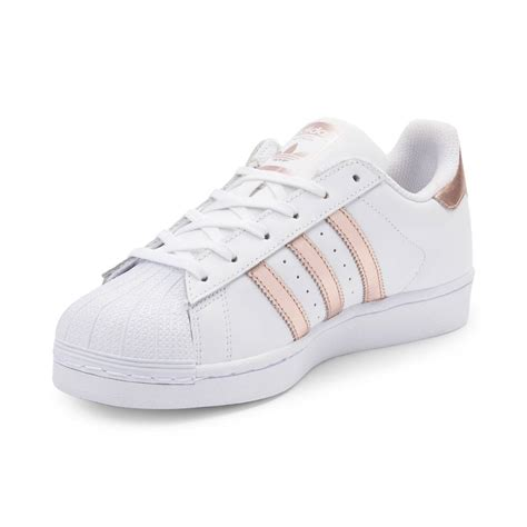 womens adidas superstar athletic shoe whiterose gold