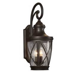 Outdoor Patio Wall Lights Shop Allen Roth Castine 23 75 In H Rubbed Bronze Outdoor Wall Light At Lowes