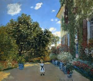 Artist House The Artist S House At Argenteuil Claude Monet Wikiart