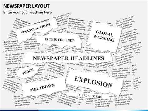 presentation and layout of web newspaper newspaper layout powerpoint sketchbubble