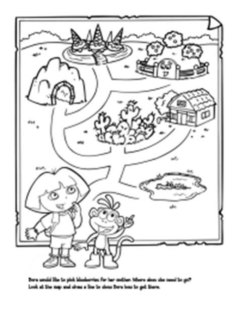 dora printable preschool activities dora maze schoolfamily