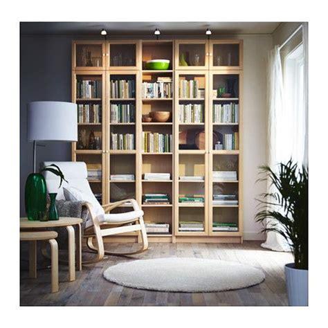 birch bookshelves billy oxberg bookcase birch veneer birch living