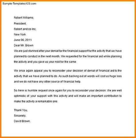 financial aid suspension appeal letter template 5 financial aid appeal letter sle reinstatement