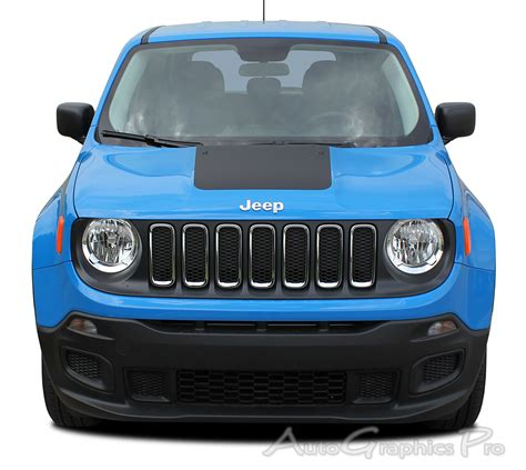 jeep renegade charcoal 2014 2017 jeep renegade quot hood quot trailhawk style vinyl