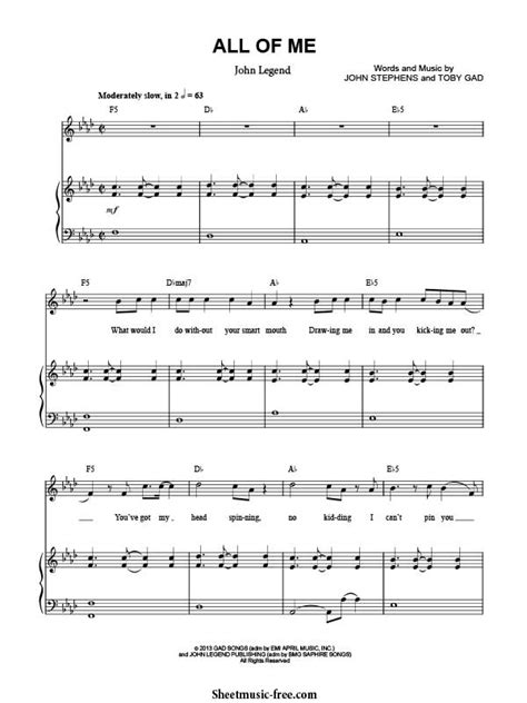 free all of me john legend piano sheet music tutorial all of me sheet music john legend sheet music free