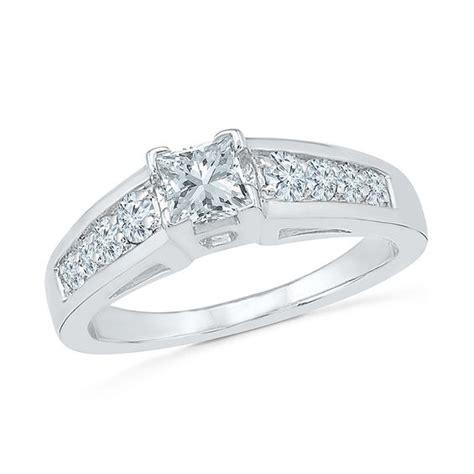 4 5mm princess cut lab created white sapphire engagement