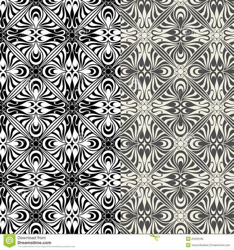 pattern design art set of art nouveau patterns royalty free stock image