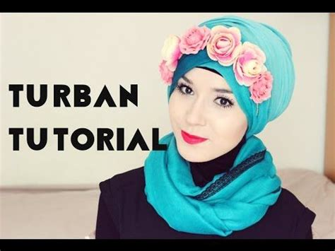 tutorial buat turban turban tutorial l flower crown youtube modest me