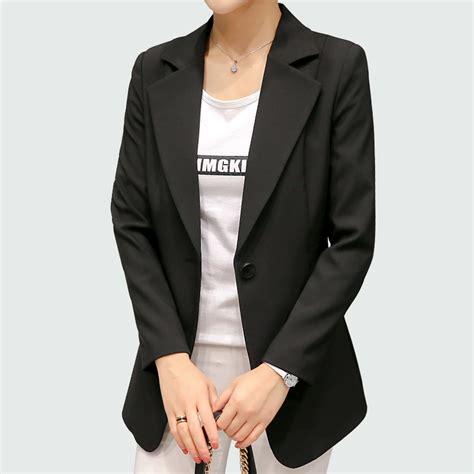 Blazer Black Fashion Single Buttom מוצר wine black blazers and jackets 2017 new