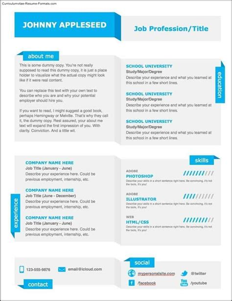 free modern templates modern resumes templates free sles exles