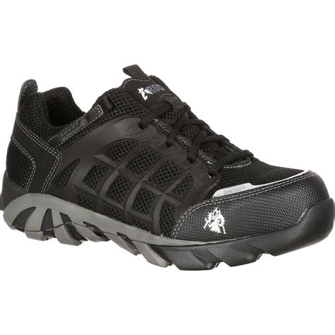 athletic work shoes rocky trailblade composite toe waterproof athletic work shoe