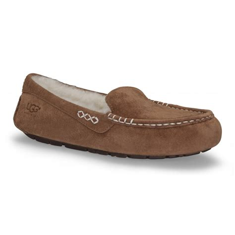 moccasins house shoes ugg australia ansley chestnut moccasin slippers footwear from voila uk