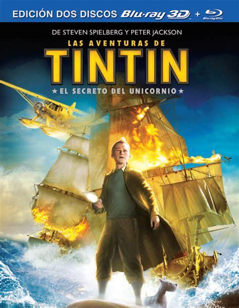 las aventuras de tintin 8426103820 las aventuras de tint 237 n el secreto del unicornio en blu ray car 225 tulas oficiales 1080b com