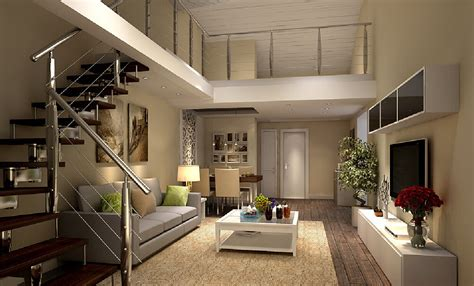 and in livingroom 3d design stairs living and dining room 3d house