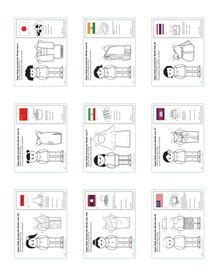 paper dolls around the world laos activities worksheets and country