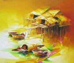 the boat girl by nguyen binh image detail for t55 s vector art gallery t55 vietnamese