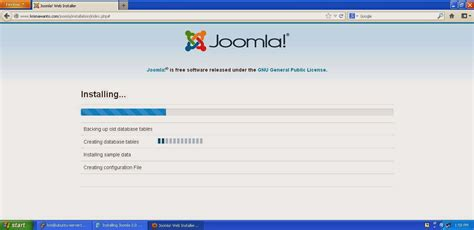 tutorial instal joomla dengan xp tutorial virtualbox part 14 installasi website dengan