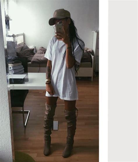 pretty thigh high boots pretty thigh high boots white tshirt tshirt