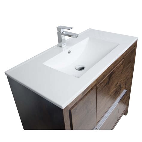 Buy Cbi Enna 36 Inch Rosewood Modern Bathroom Vanity Tn 36 Inch Bathroom Vanity
