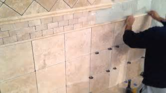 Installing Tile On Walls How To Install Travertine Tile On Bathroom Walls
