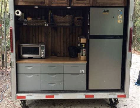 cer trailer kitchen ideas 25 best ideas about cargo trailer cer on diy cer trailer enclosed utility