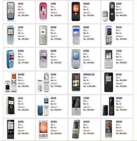 Harga Hp Merk Sony Xperia harga handphone sony ericsson handphone carapedia