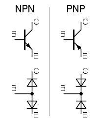 transistor pnp e npn diferenças bipolarer transistor