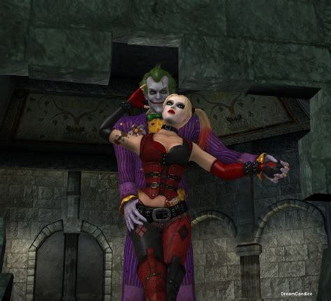 the joker and harley quinn batman arkham asylum by