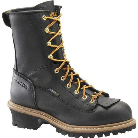 carolina mens boots carolina s 8 in waterproof lace to toe logger boots