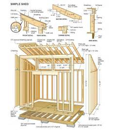 diy wood design plans to build a wood shed