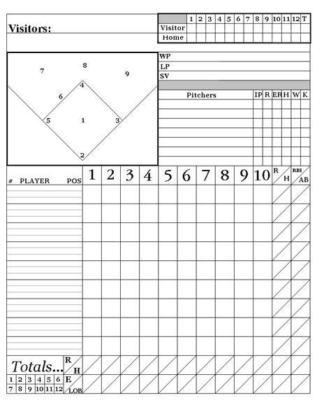 printable baseball score sheets    system words    beisbol deportes equipo