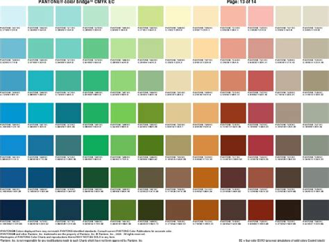 pantone color palette pantone sheet 12 color palettes pantone
