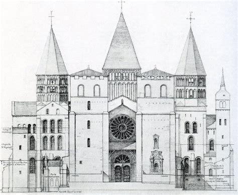 Draw A Plan l abbaye de cluny iii 233 tude de la fa 231 ade gothique