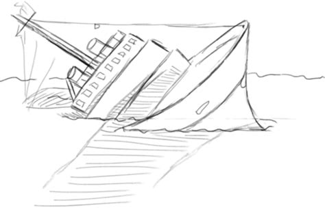 boat sinking drawing drawing of a sinking ship google search we heart it