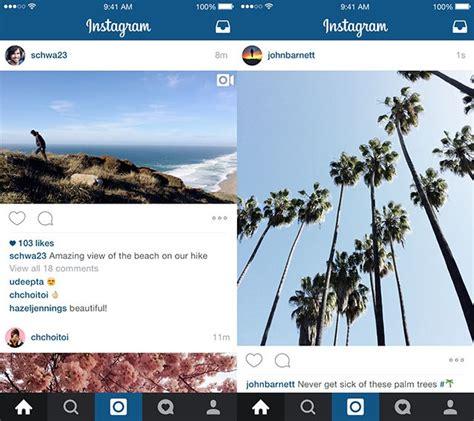 Landscape Forms Instagram Instagram Now Supports Landscape And Portrait Images