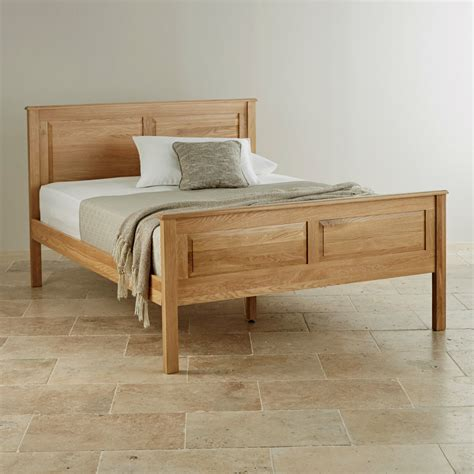 rivermead king size bed  natural solid oak