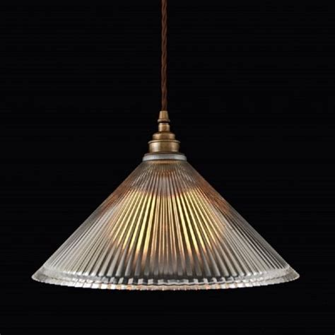Glass Ceiling Lights Uk Ribbed Glass Pendant Light Shade On Braided Cord Cable