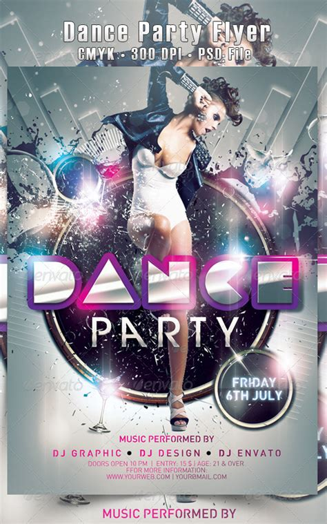 templates for dance flyers dance party flyer by hdesign85 graphicriver