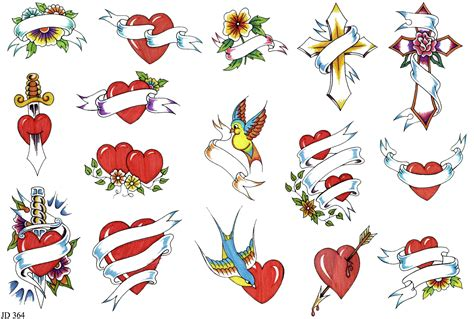 heart tattoo designs with banner tattoos and designs page 166